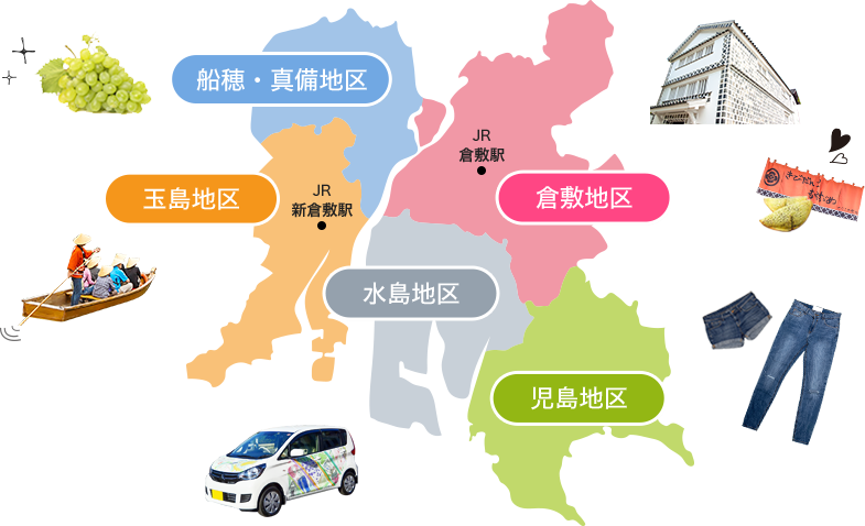 倉敷市の地図